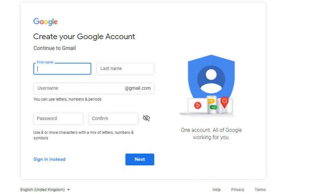 isi data email google