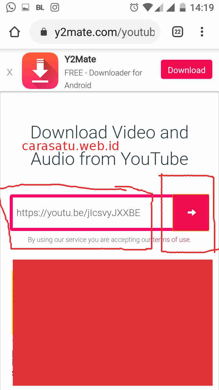 Download Youtube y2mate